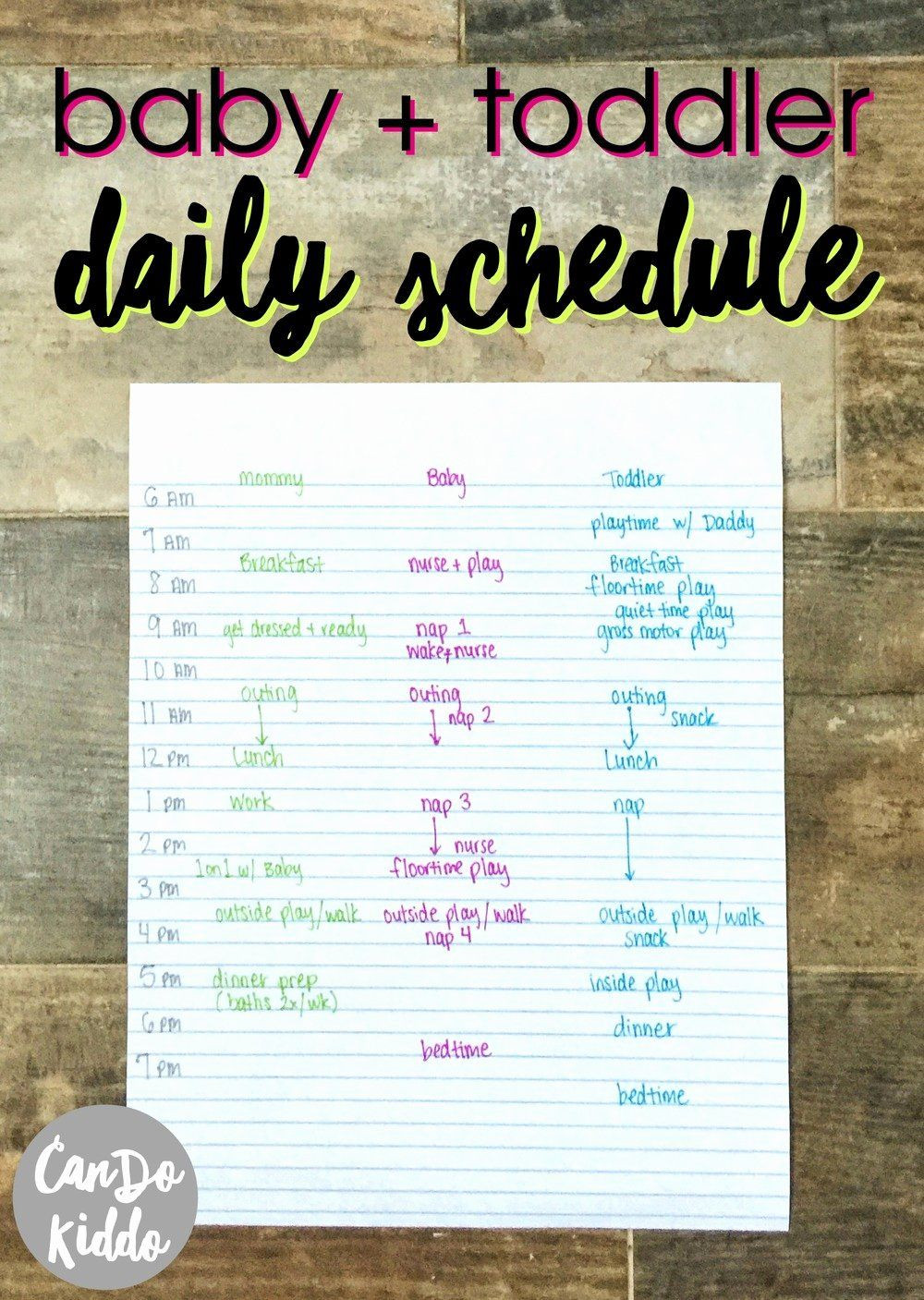 Baby Daily Schedule Template Best My Stay at Home Infant