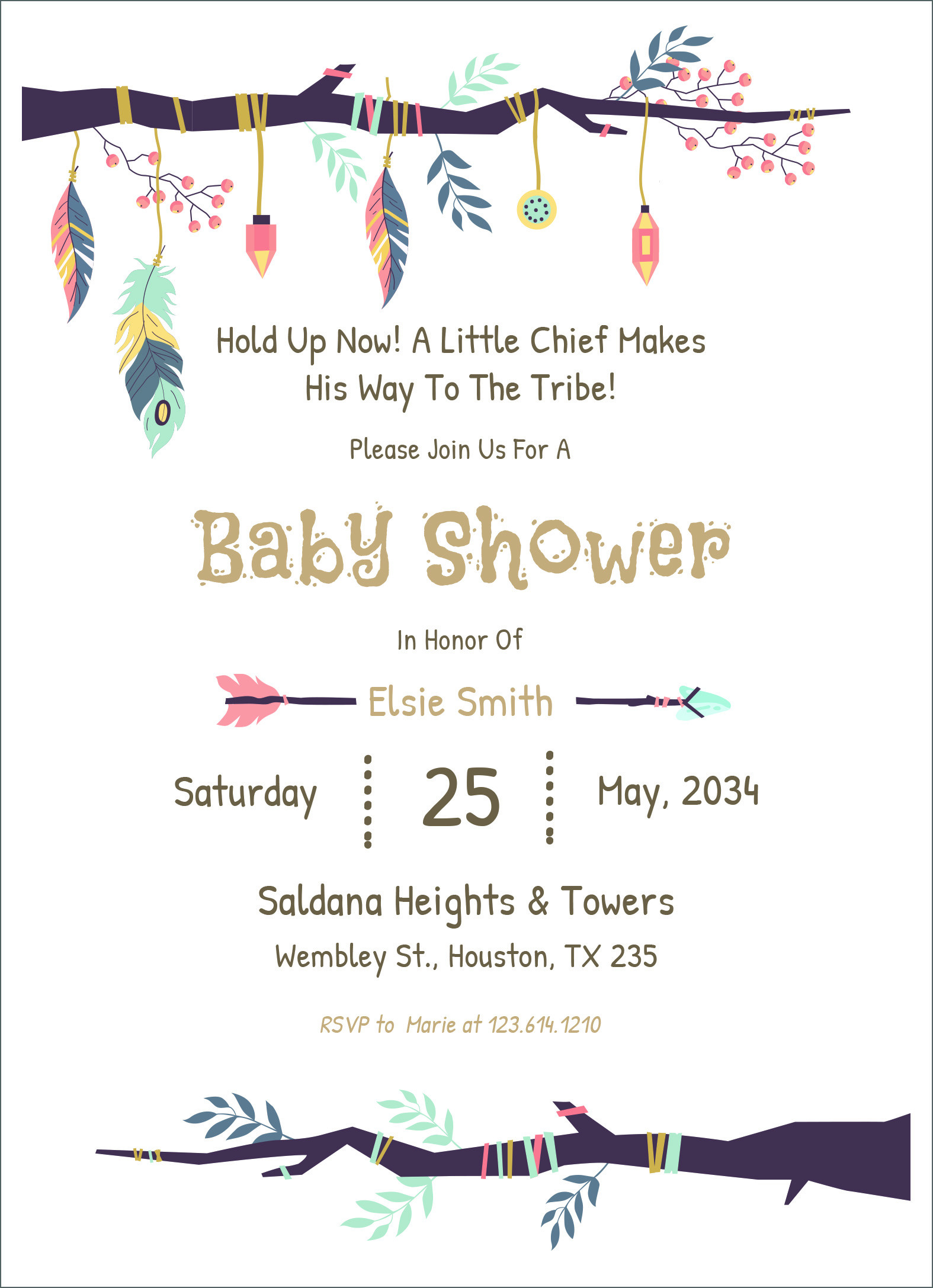 Baby Onesies Invitations Template