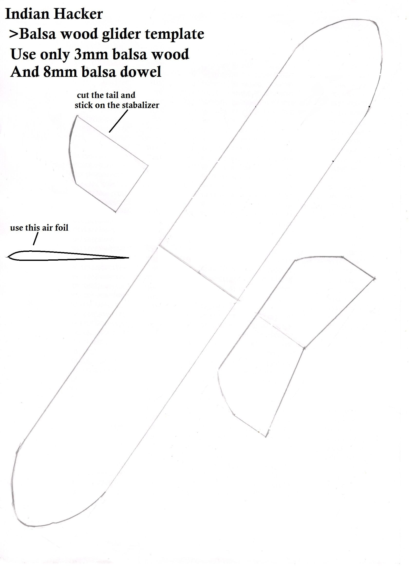 this is a template for making balsa wood glider