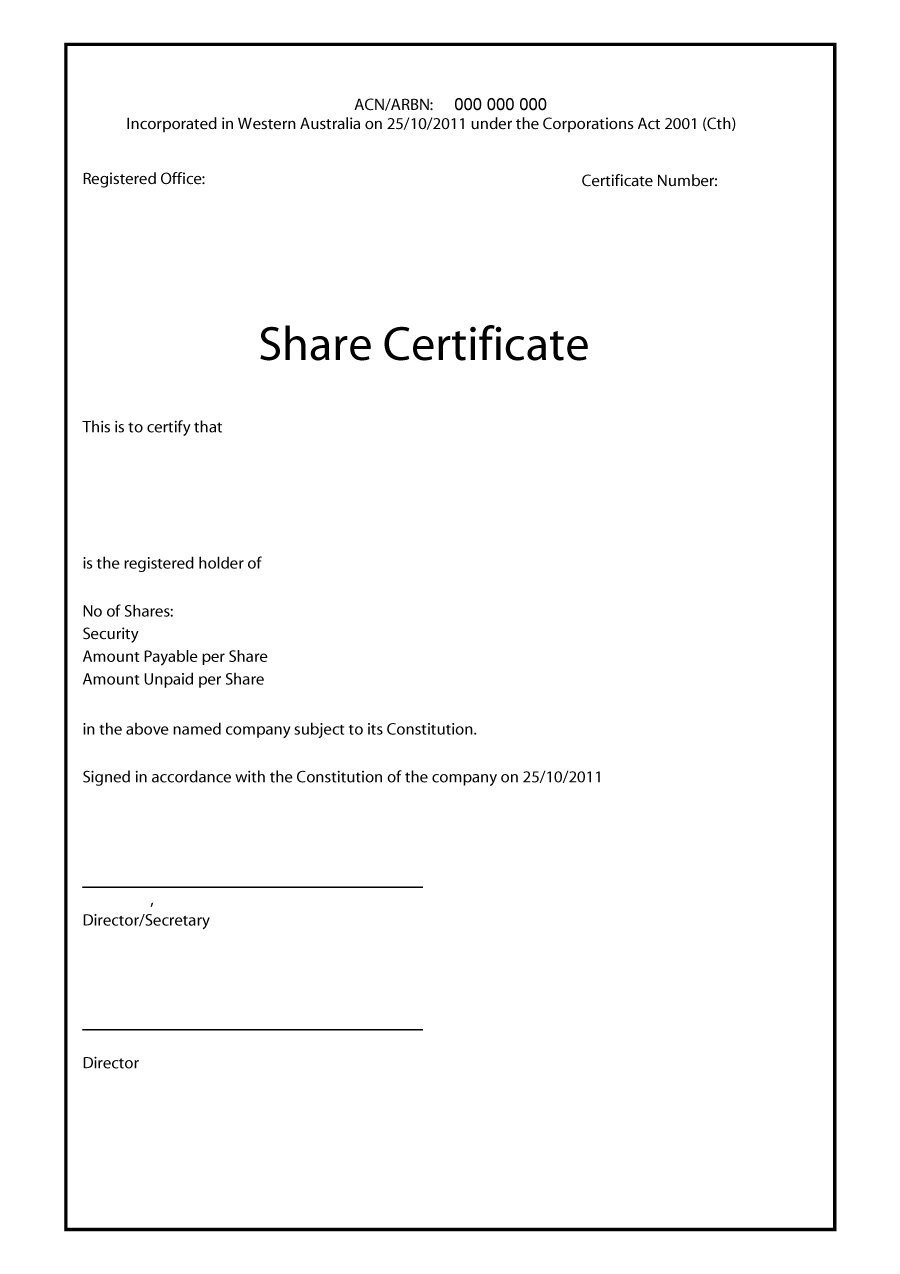 Birth Certificate Template Word