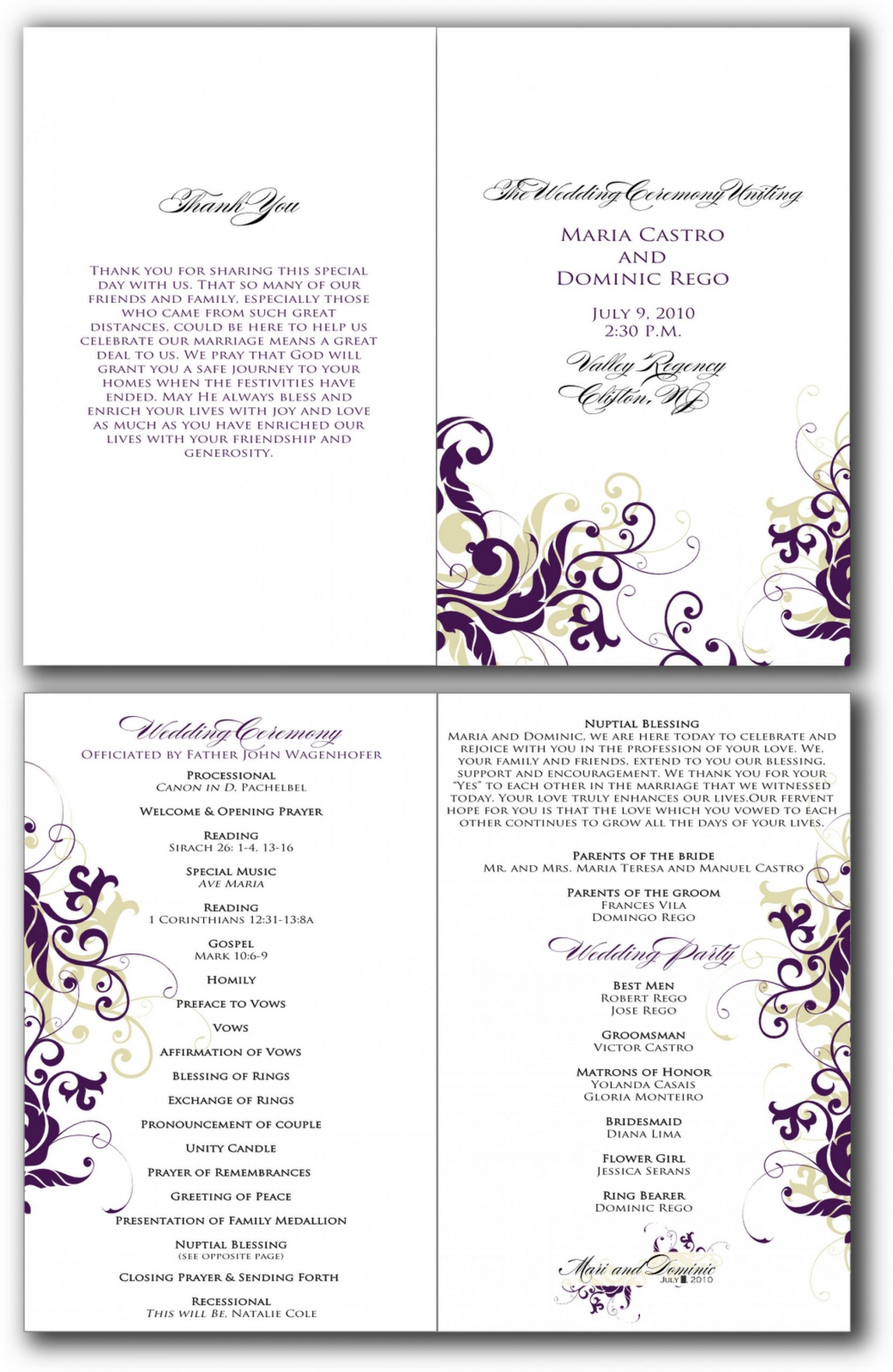 Birthday Party Program Template