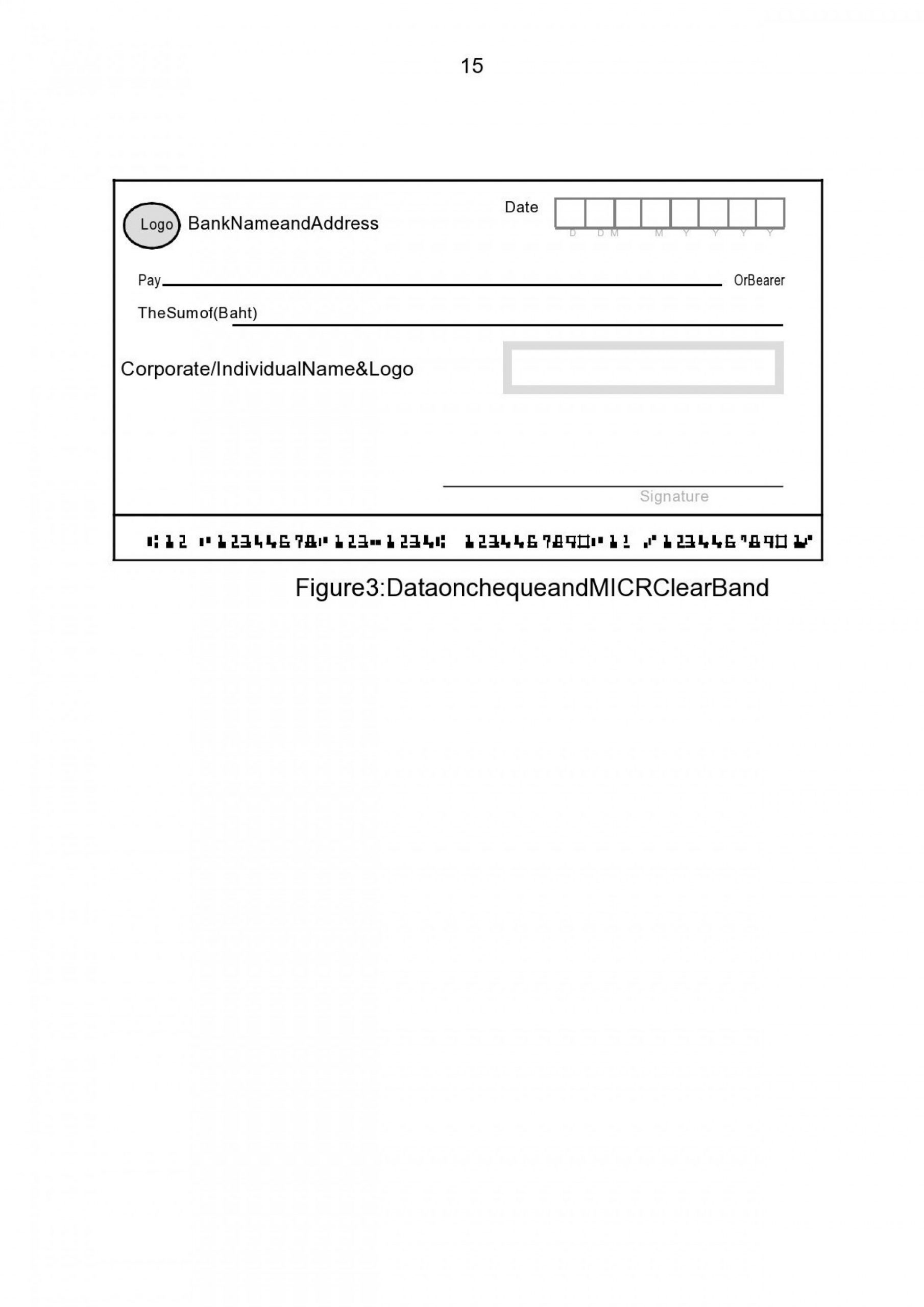 Blank Cashiers Check Template