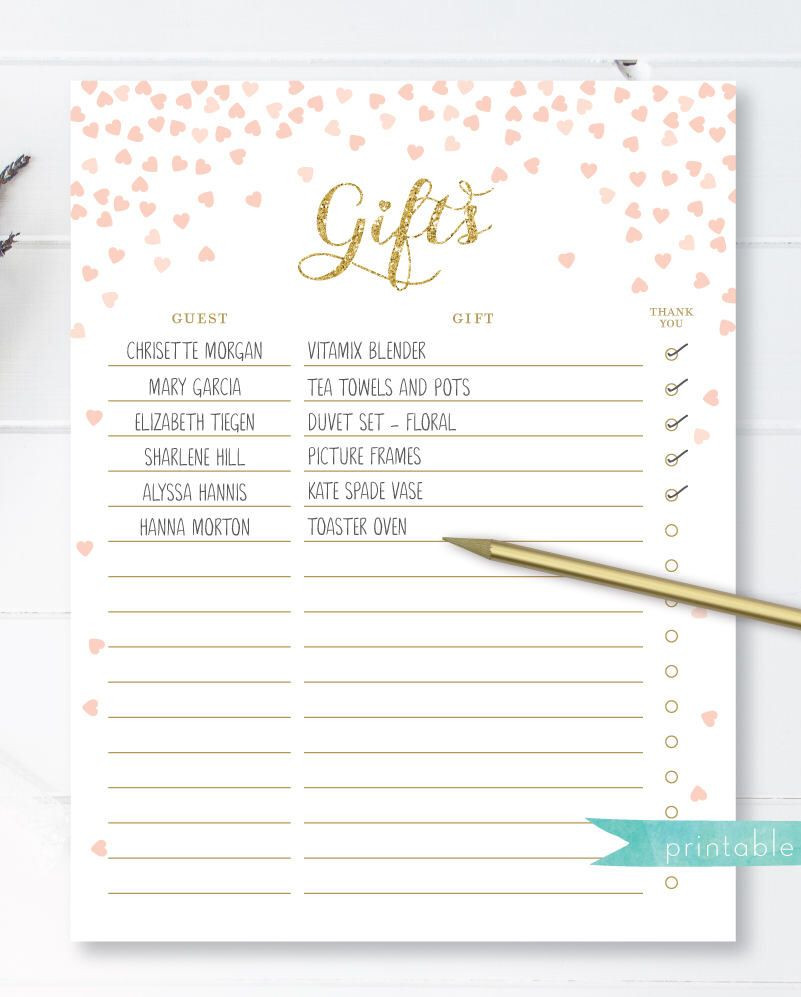Bridal Shower Budget Template