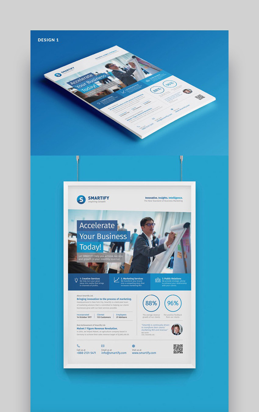 Business One Sheet Template
