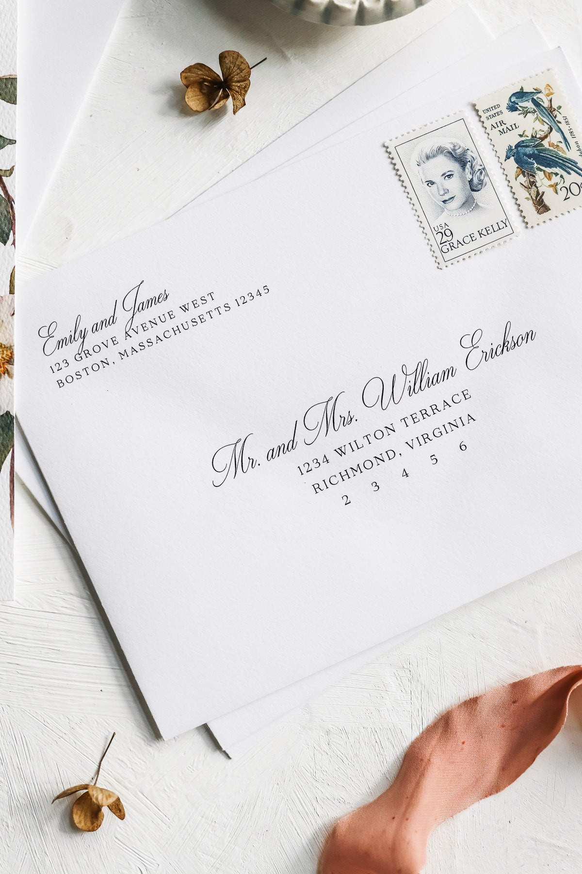 Calligraphy Envelope Addressing Template