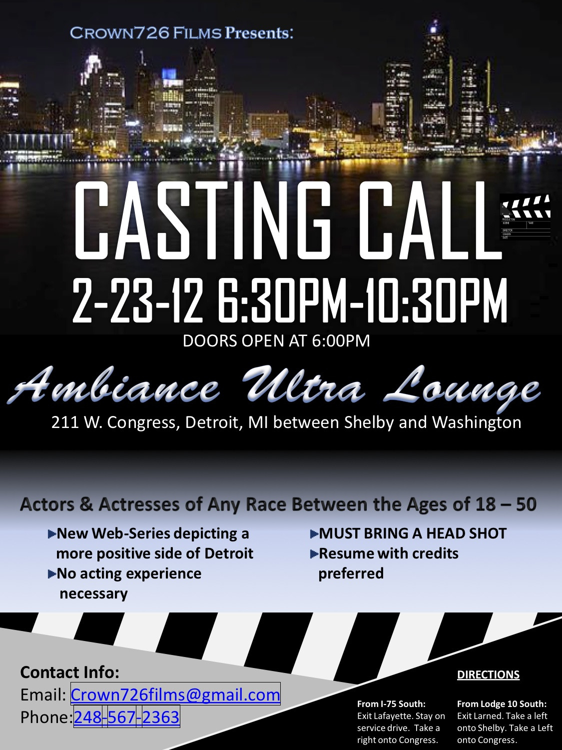 Casting Call Flyer Template