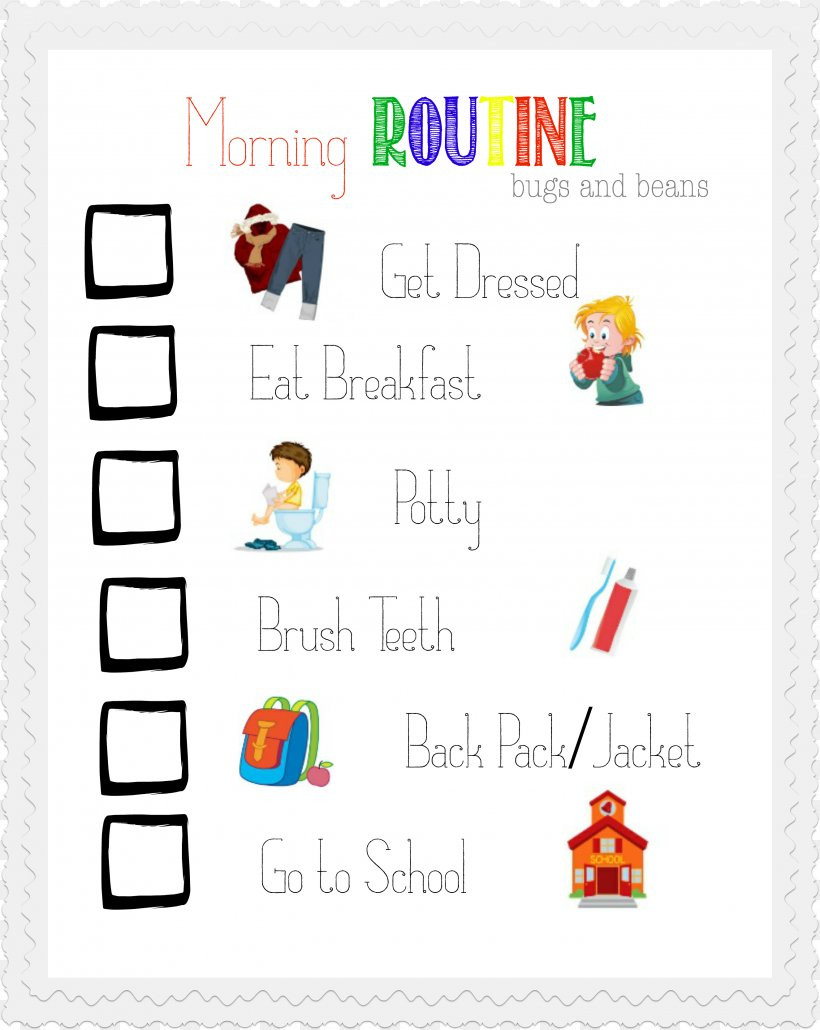 Children Chore Chart Template