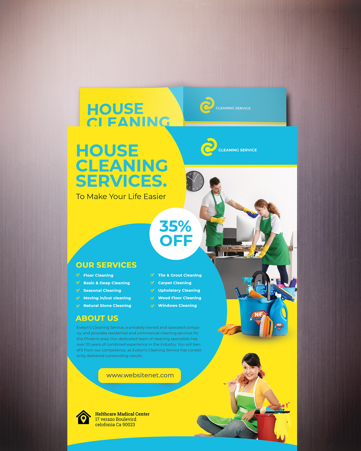 Cleaning Services Flyer Template on Student Show