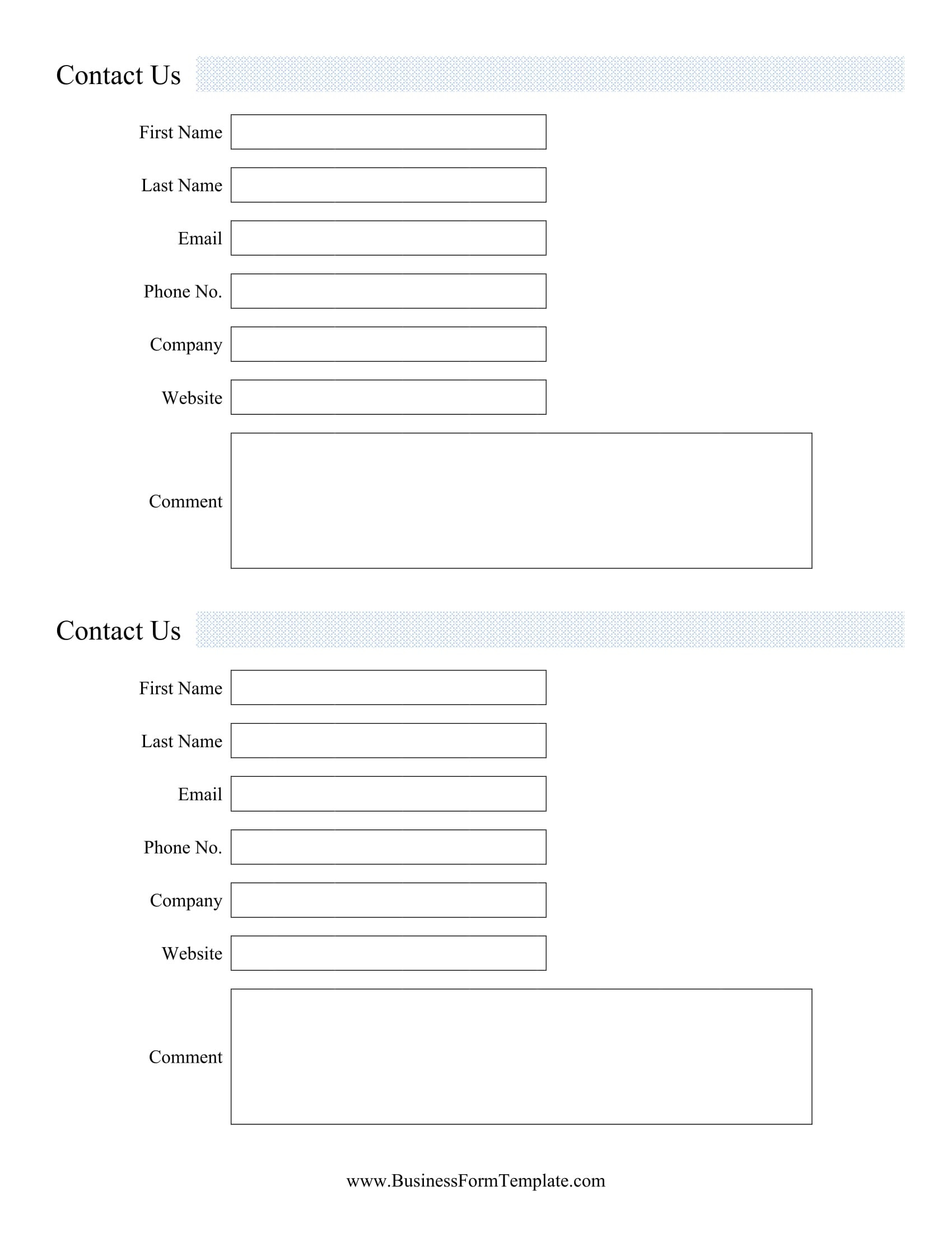 Client Information form Template