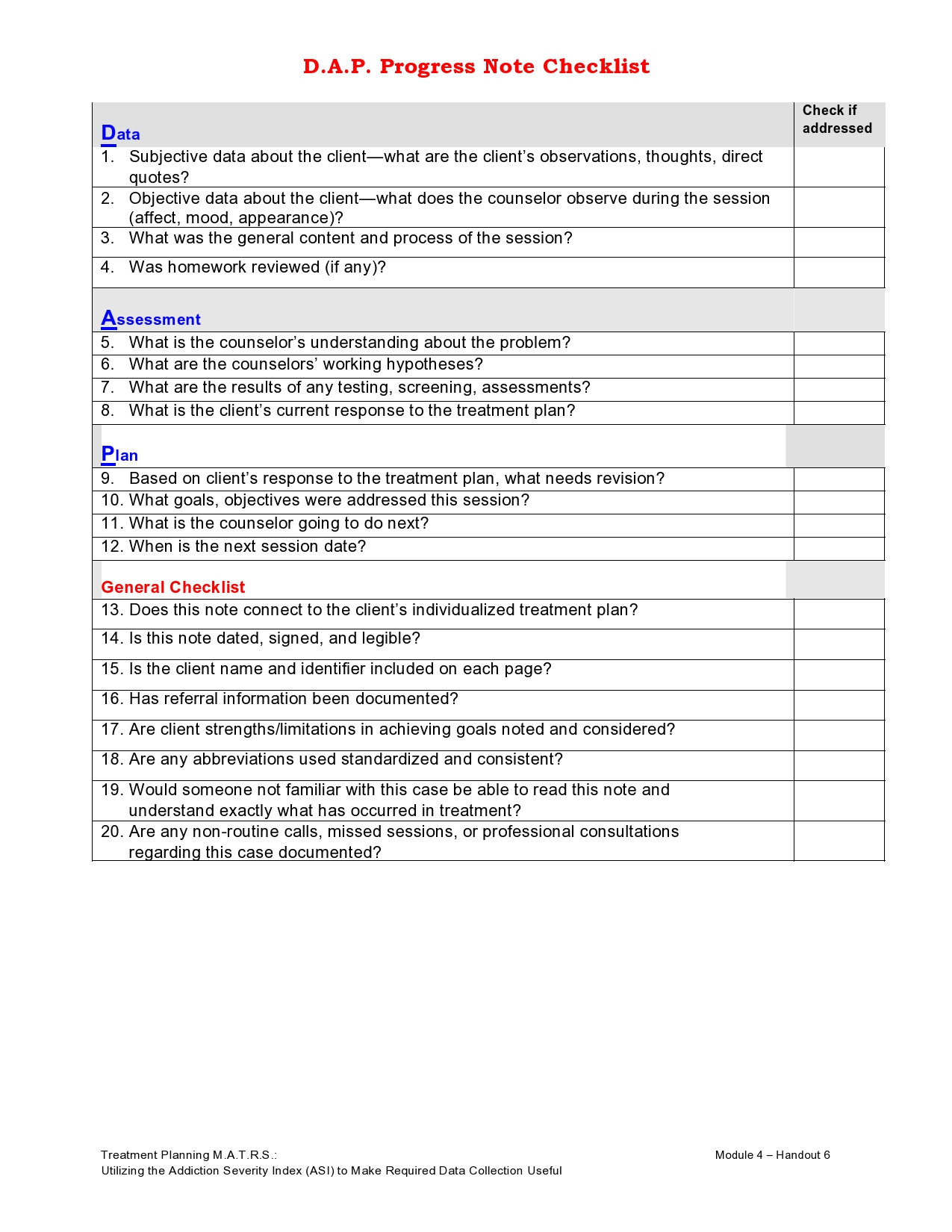 Clinical Progress Notes Template