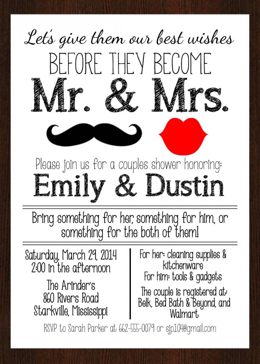 Couples Shower Invitations Template
