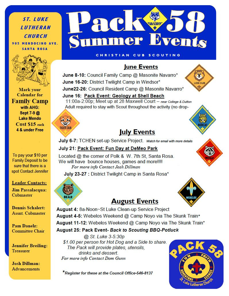 Cub Scout Flyer Template