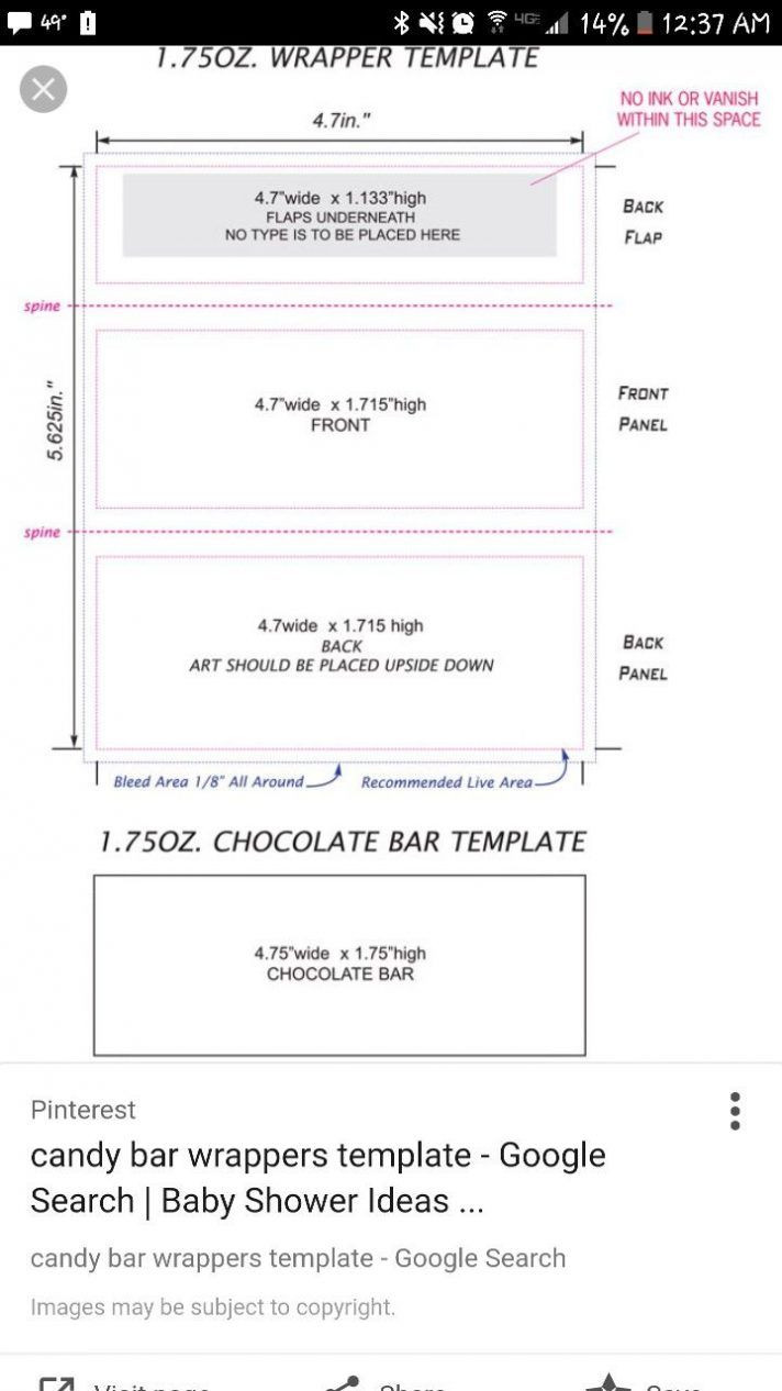 Custom Candy Wrapper Template
