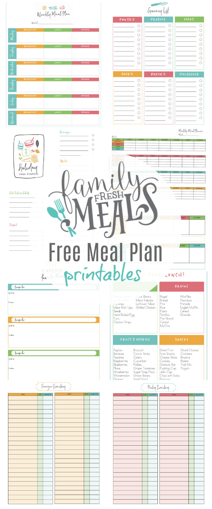 Daily Meal Plan Template
