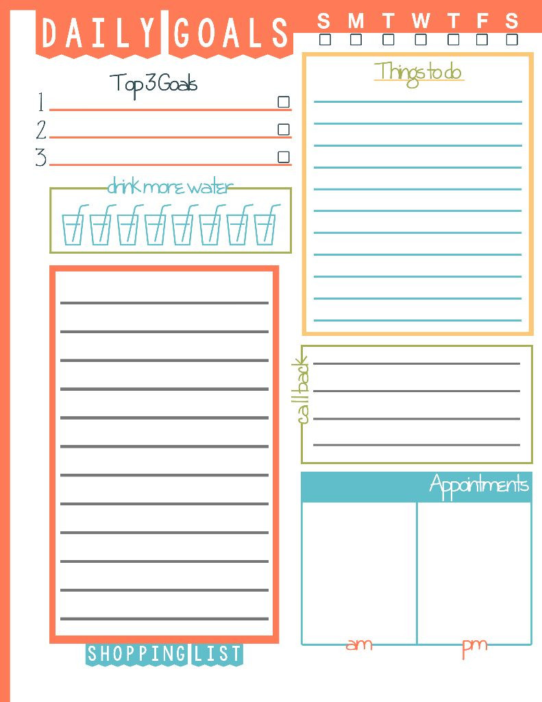 Daily todo List Template