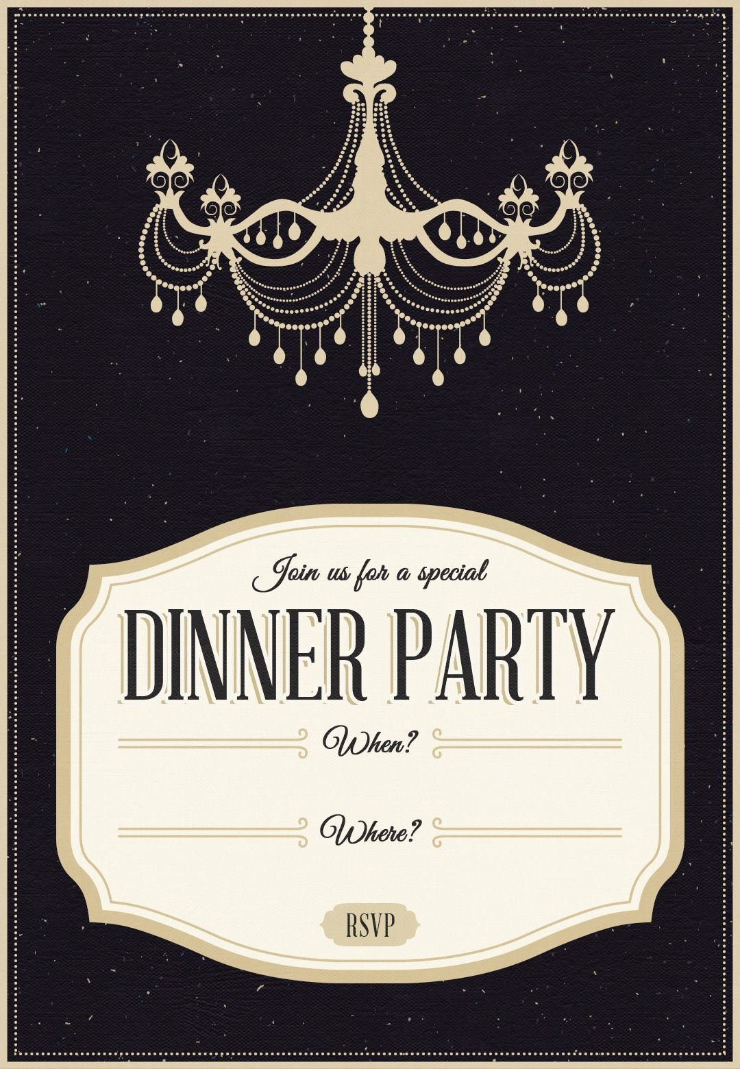 Dinner Party Invite Template
