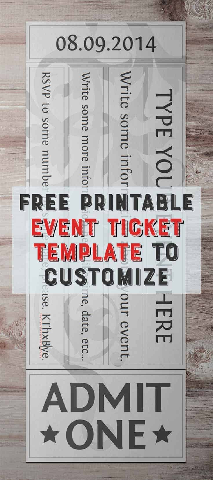 Dinner Ticket Template Free