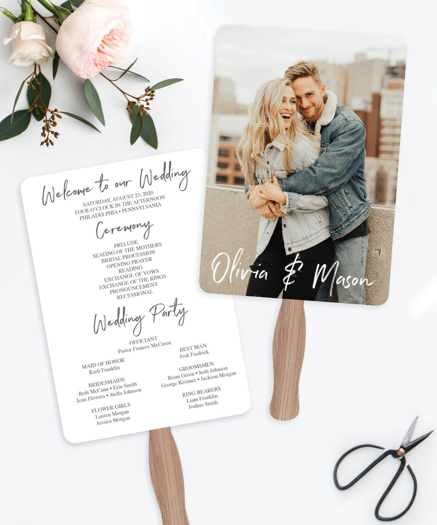 Diy Wedding Fan Template