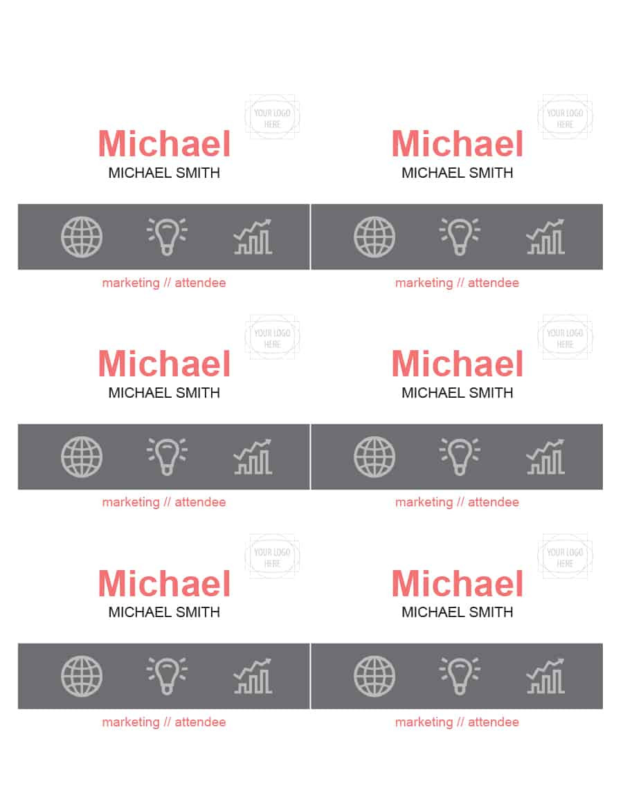 Doctor Name Tag Template