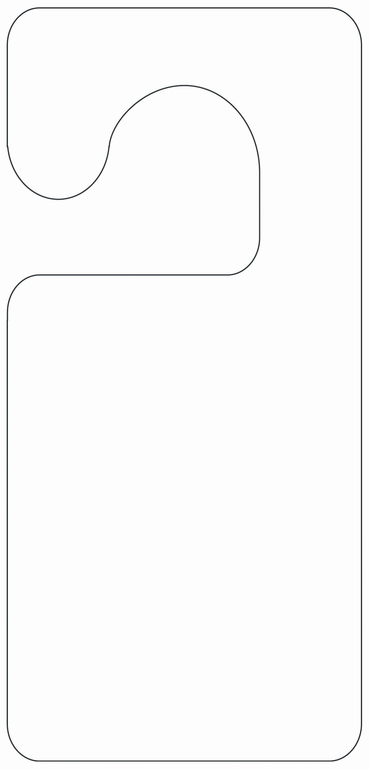 Door Knob Hanger Template