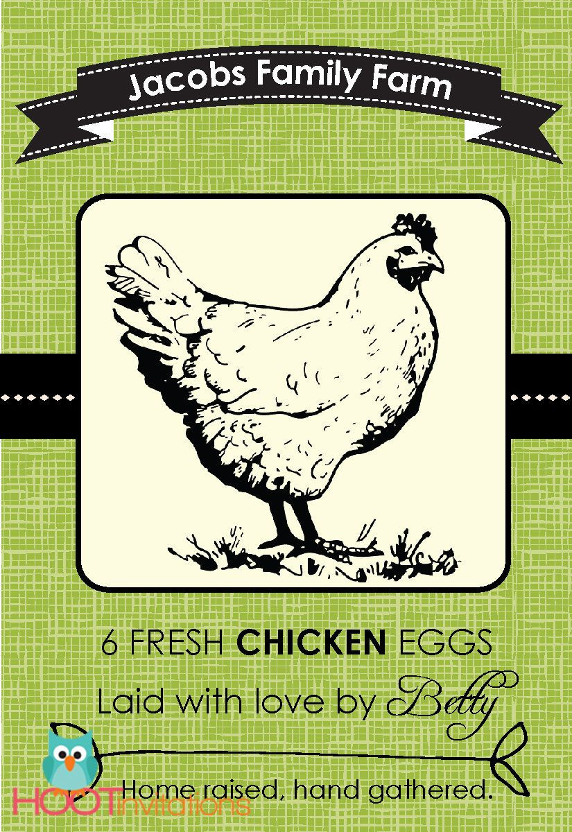 Egg Carton Labels Template