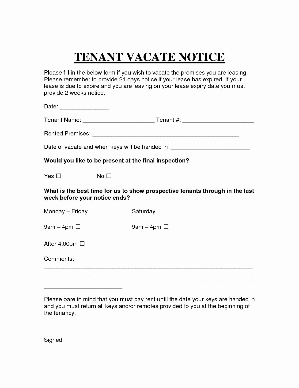 Eviction Letter Template Free