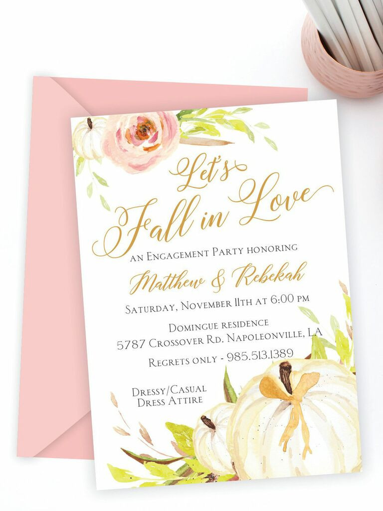 Fall Party Invitation Template