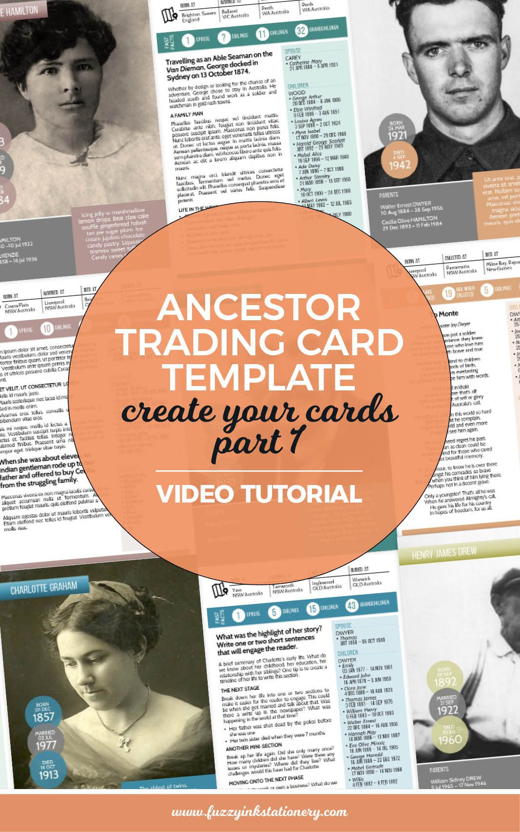 Family History Books Template