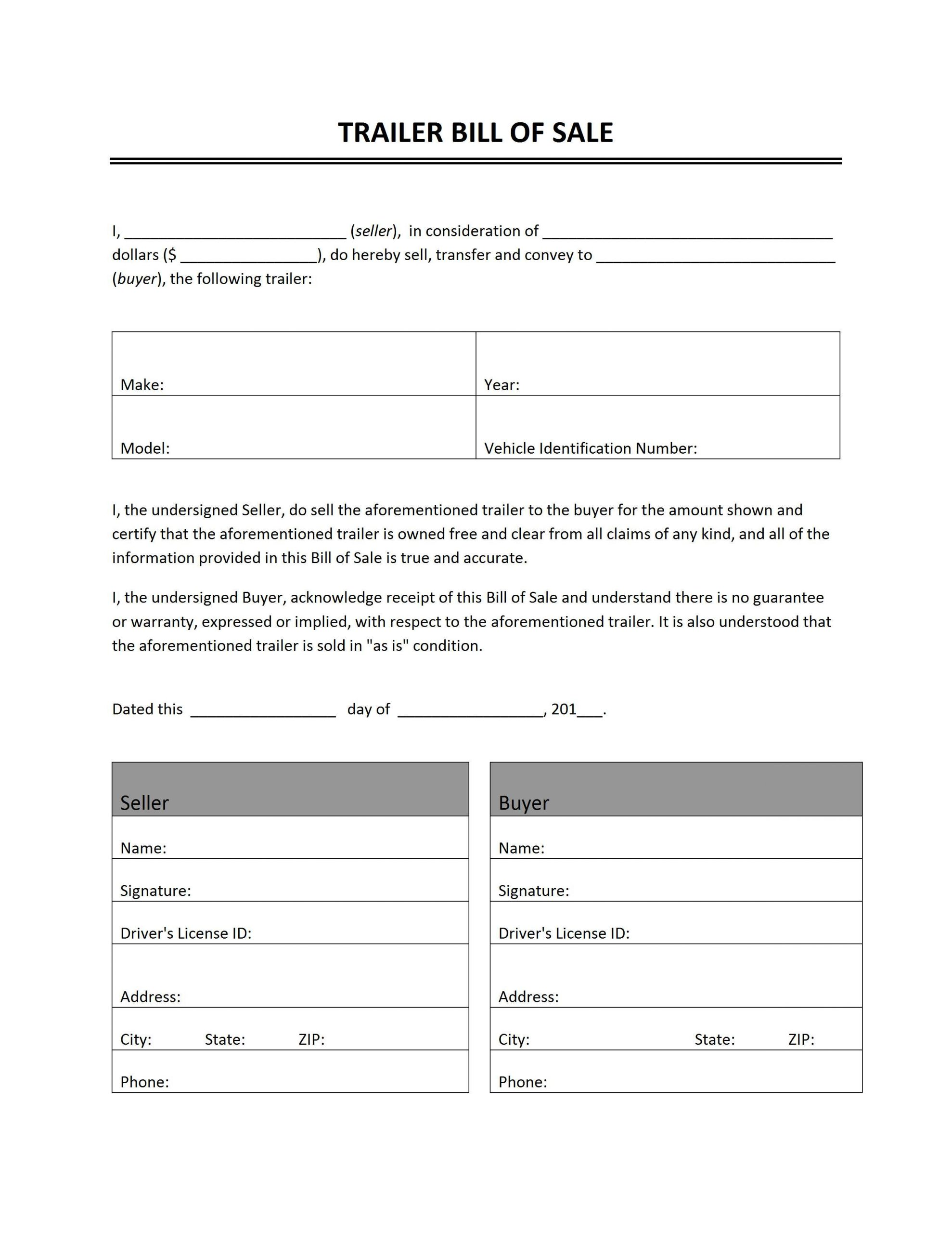Food Truck Contract Template