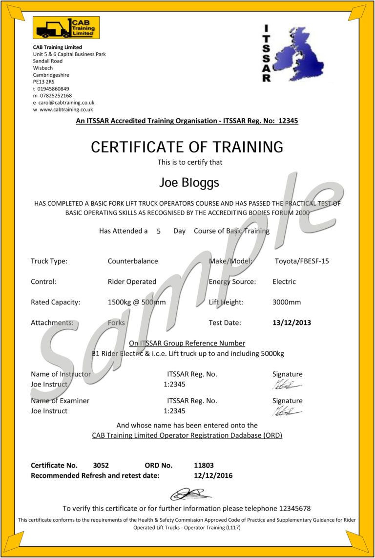 pany Forklift License Engage Project in Forklift