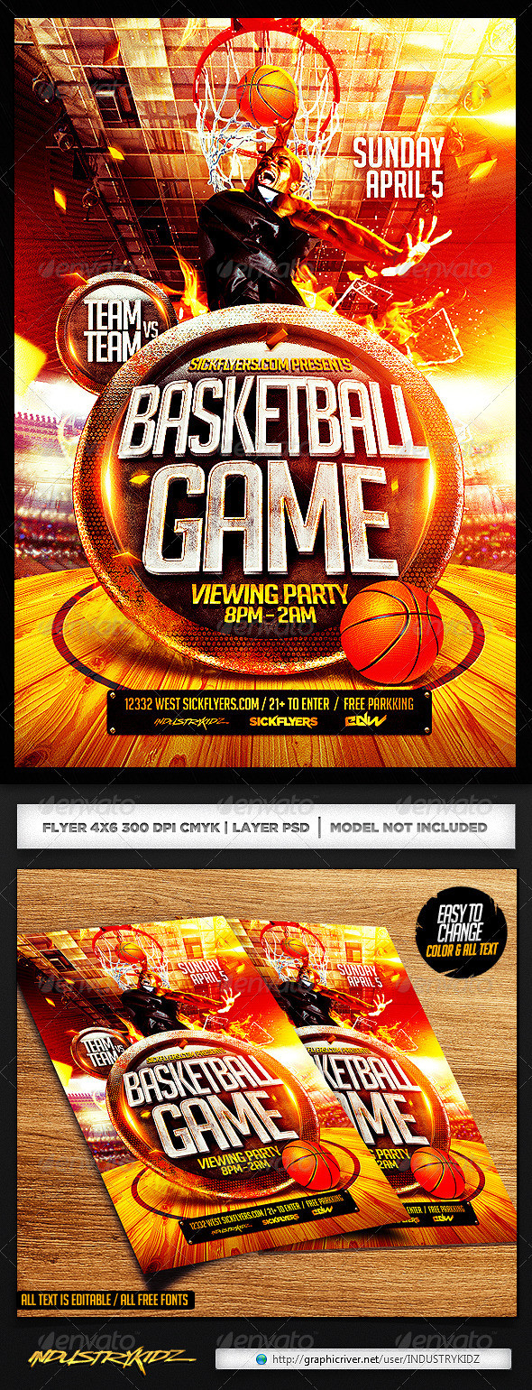 Free Basketball Flyer Template