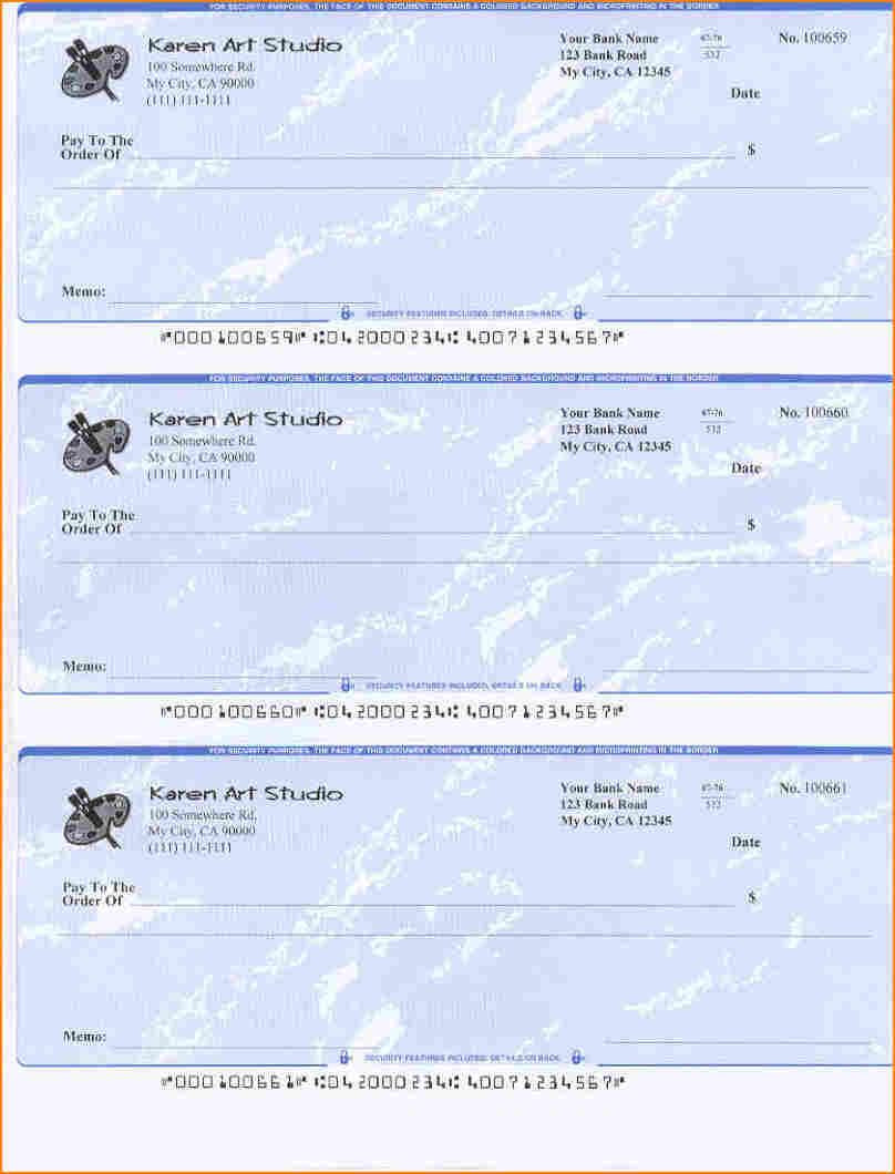 Free Blank Check Template