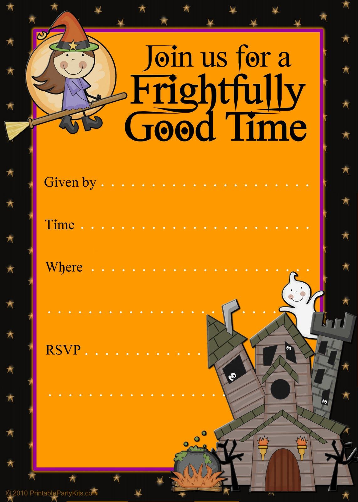 Free Halloween Invitation Template