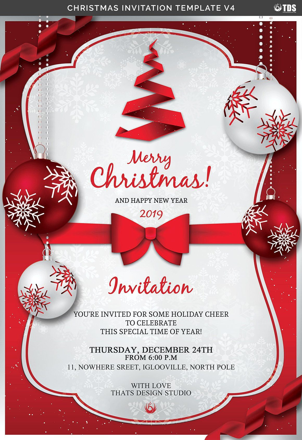 Free Holiday Flyer Template