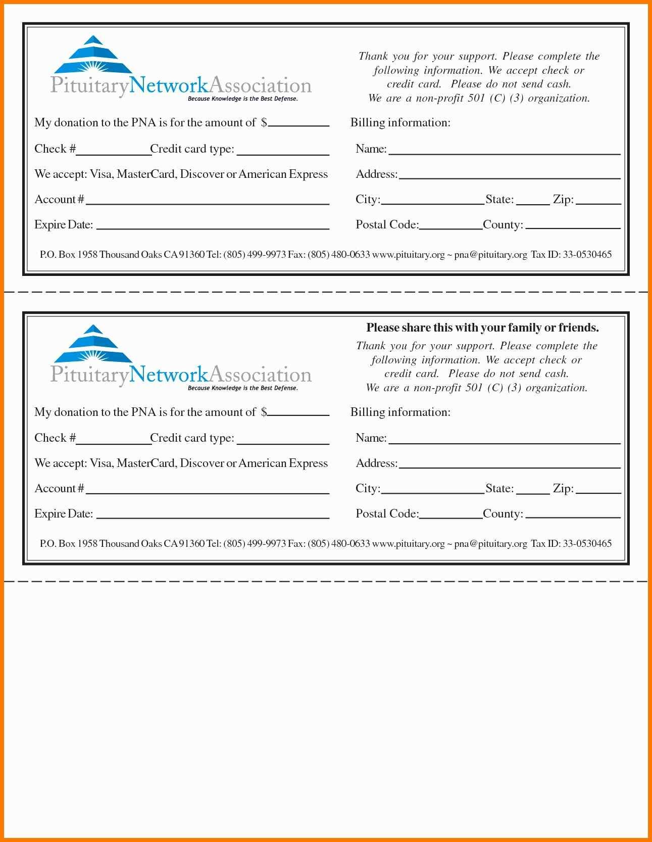 Pledge forms Template Awesome 55 Inspirational Graph