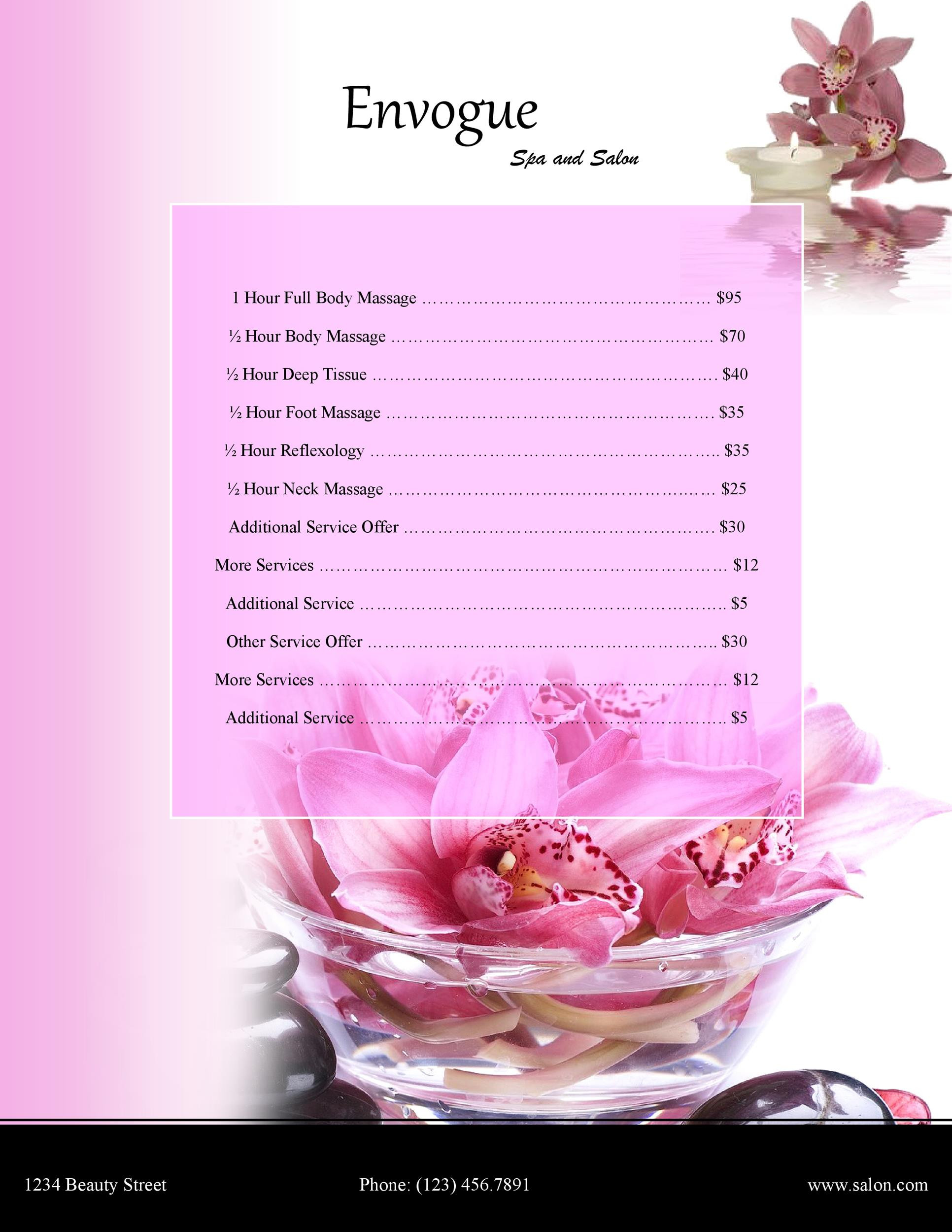 Free Price List Template