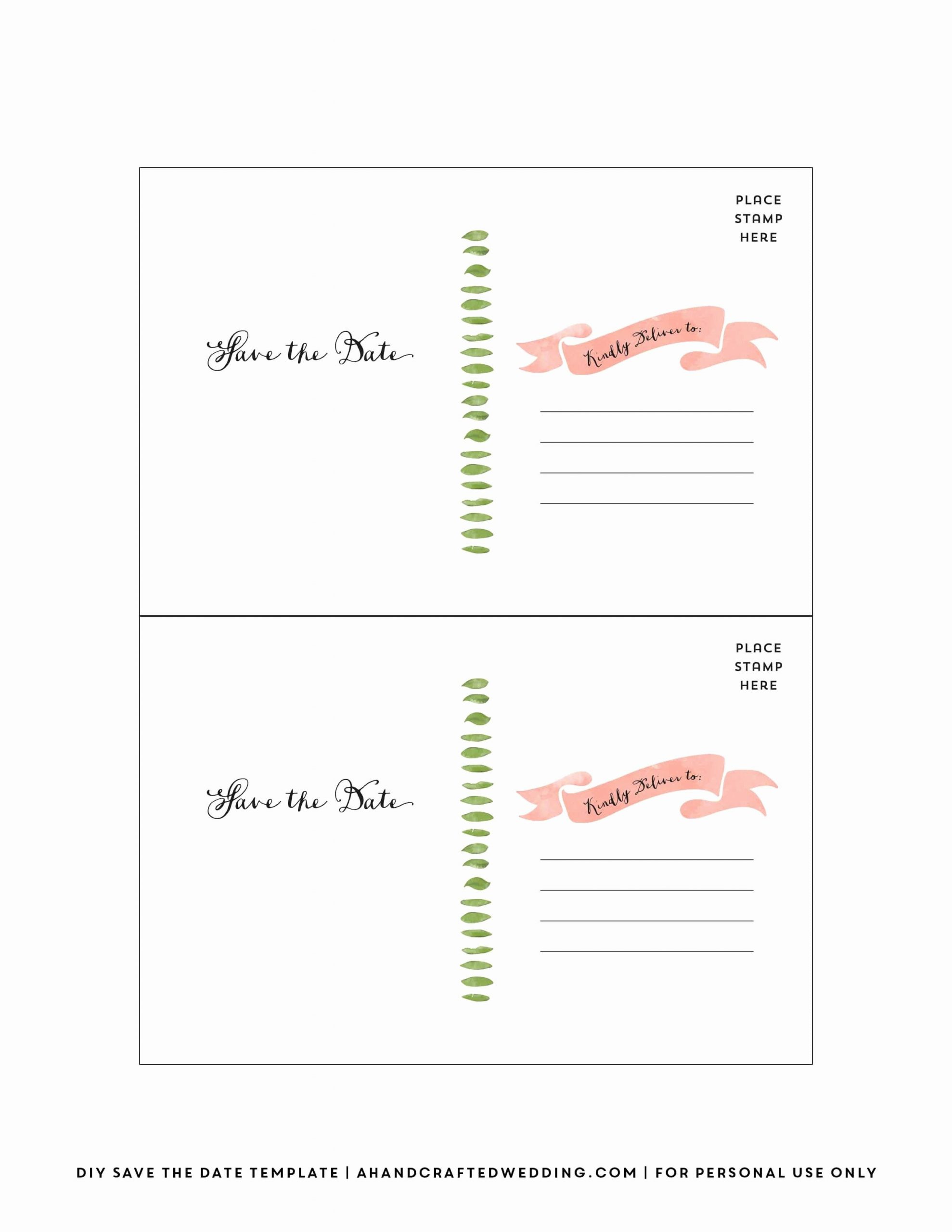 Postcards Save the Date Template Luxury Diy Save the Date