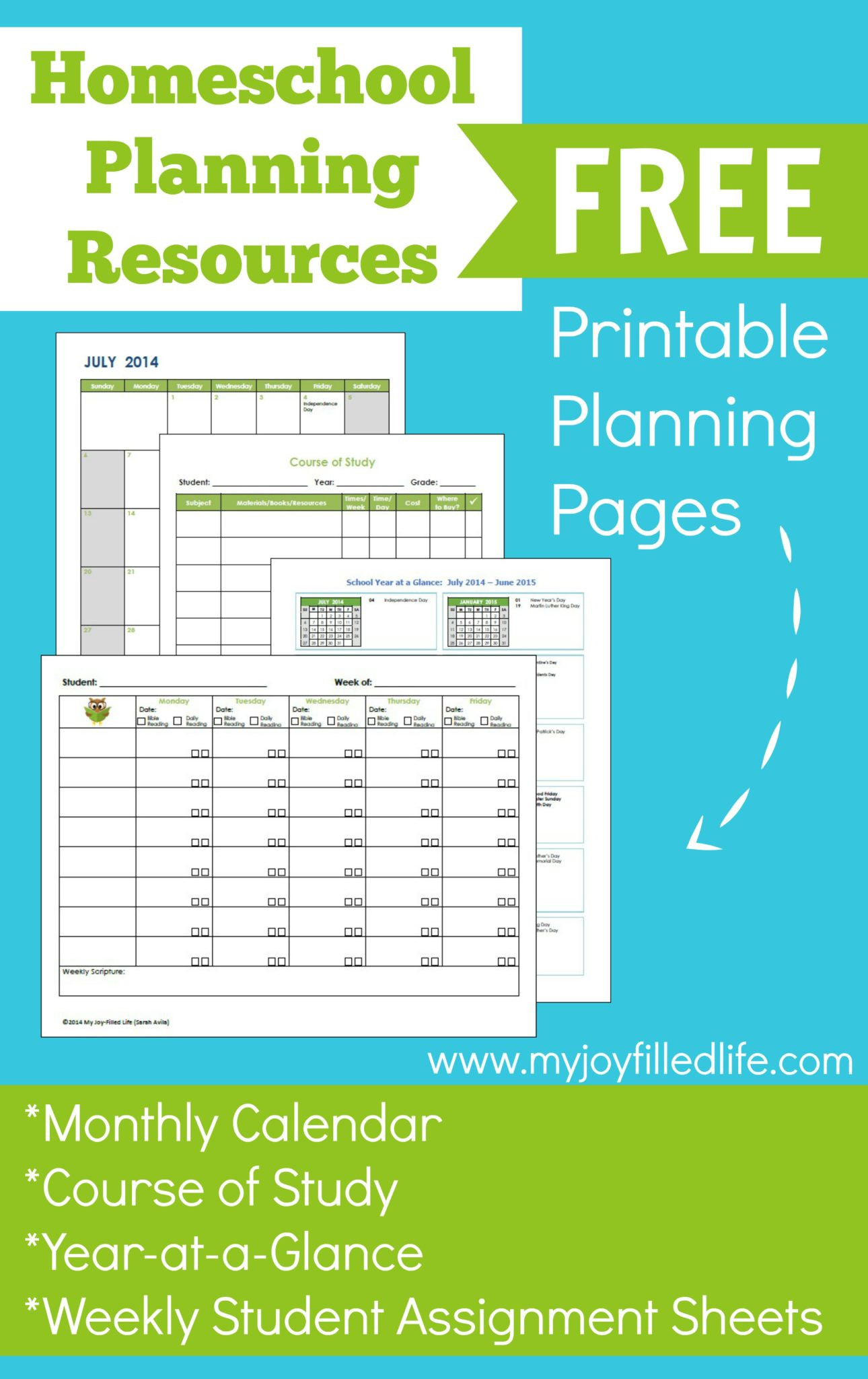 Free Teacher Planner Template