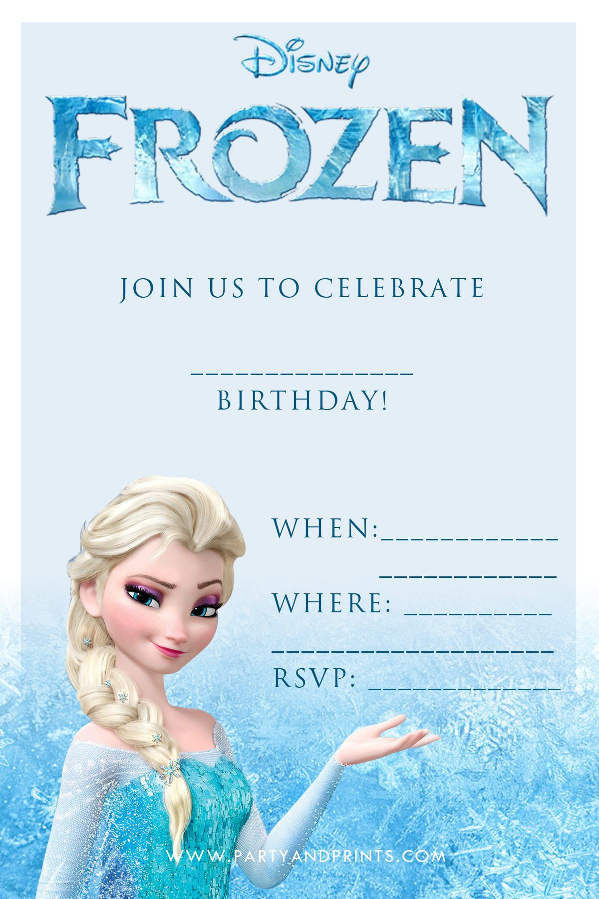 Free Frozen Invitation