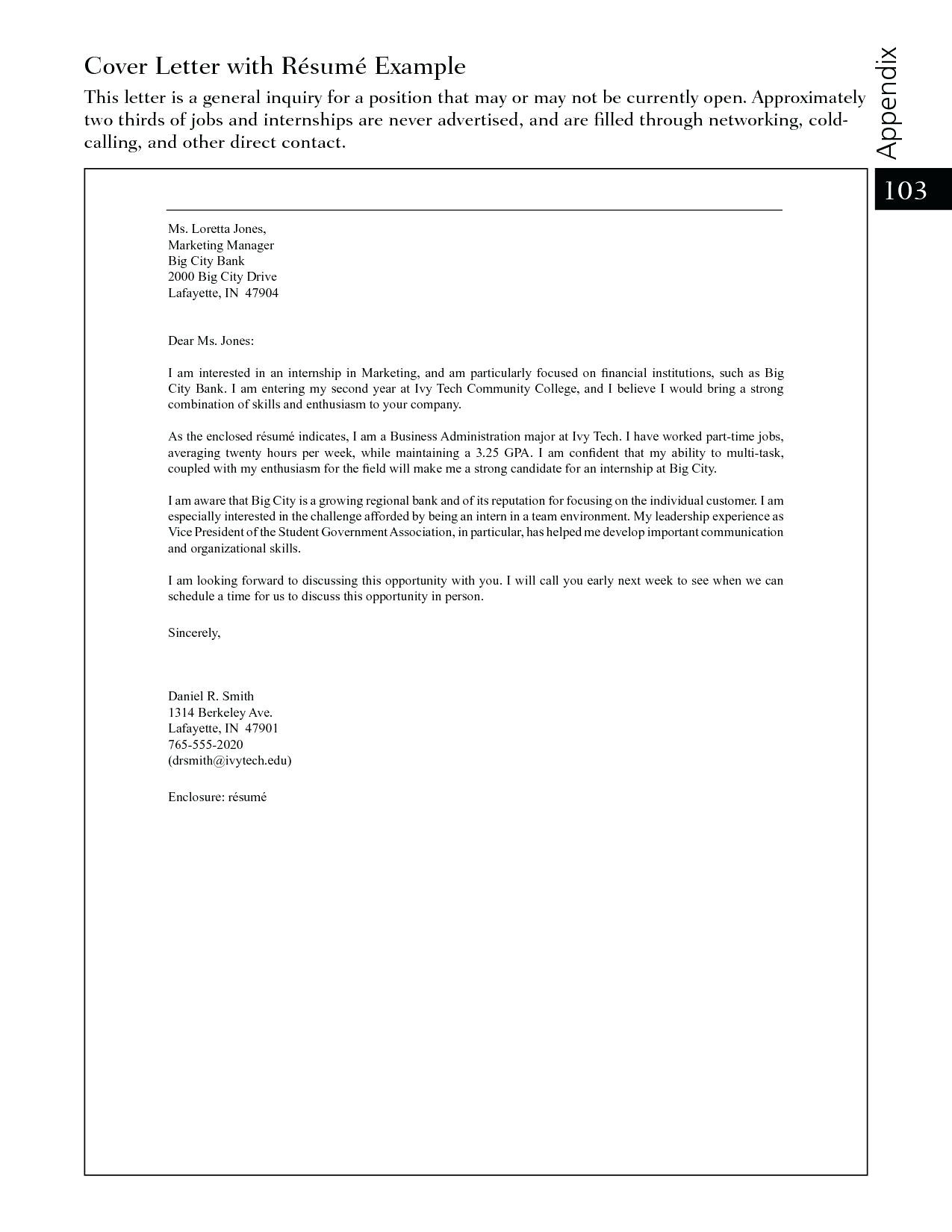 General Cover Letter Template