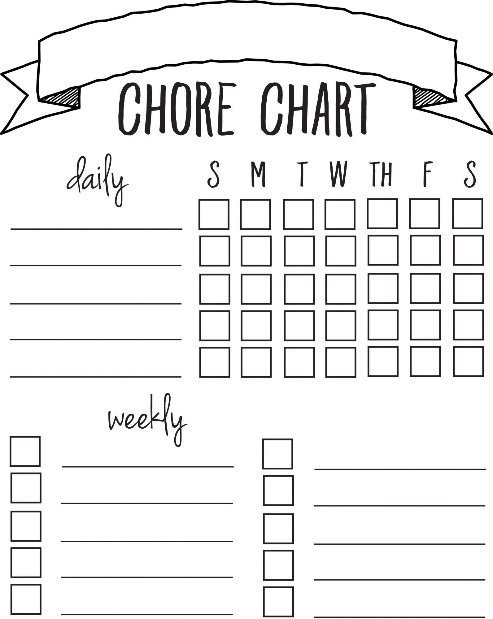 Good Behavior Chart Template