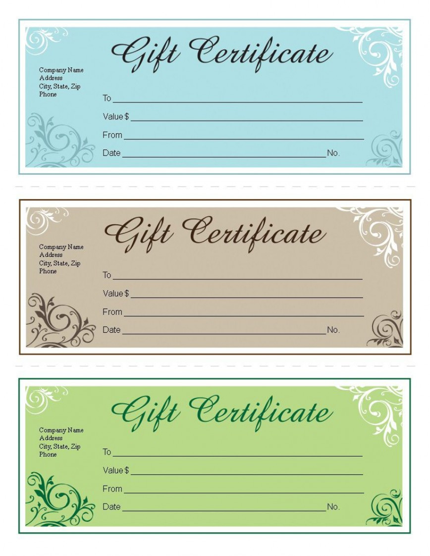Google Doc Gift Certificate Template Addictionary