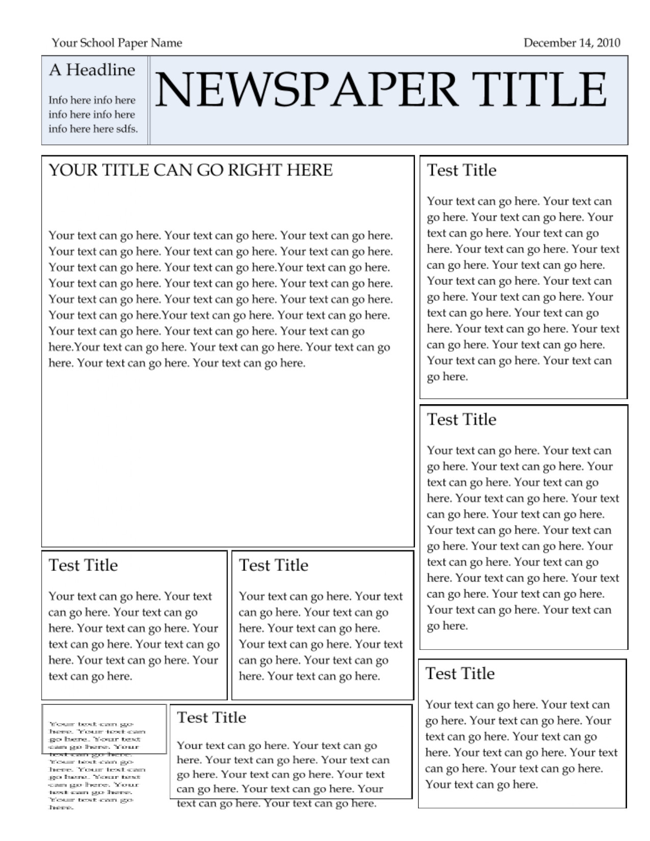 Google Docs Newsletter Template