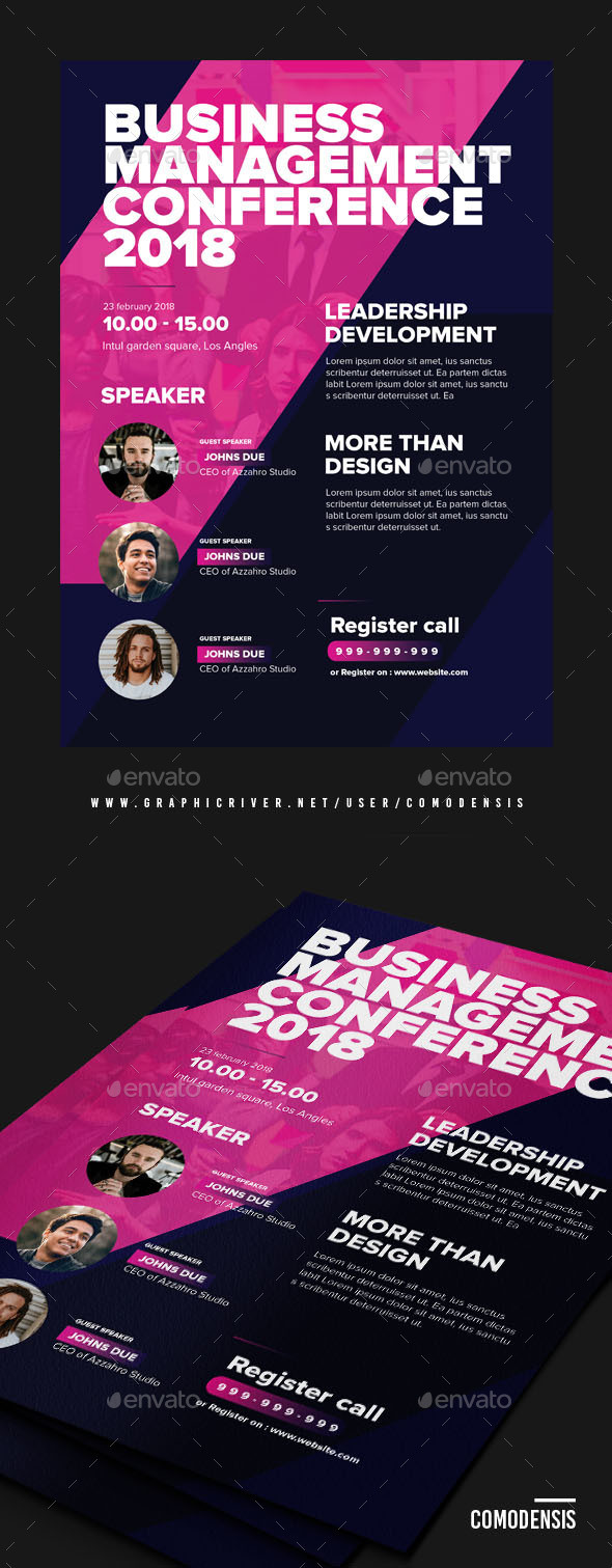 Speaker Flyer Graphics Designs & Templates from GraphicRiver