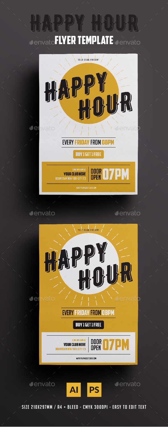 Happy Hour Invite Template