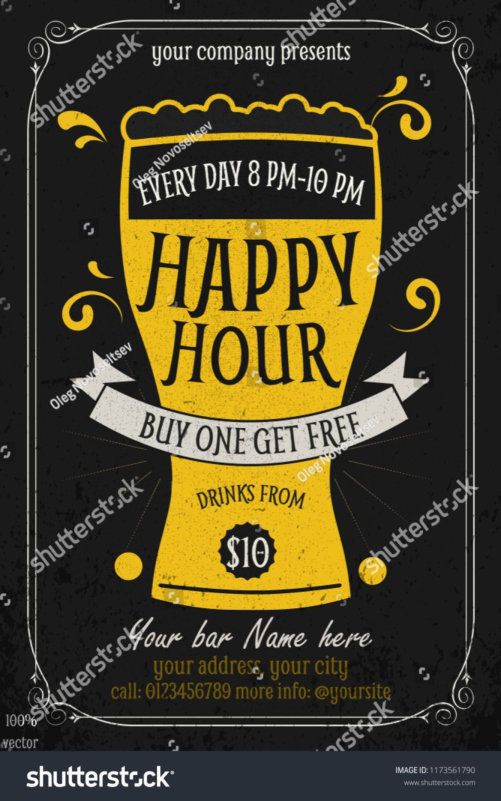 Happy Hour Invitation Template • Business Template Ideas