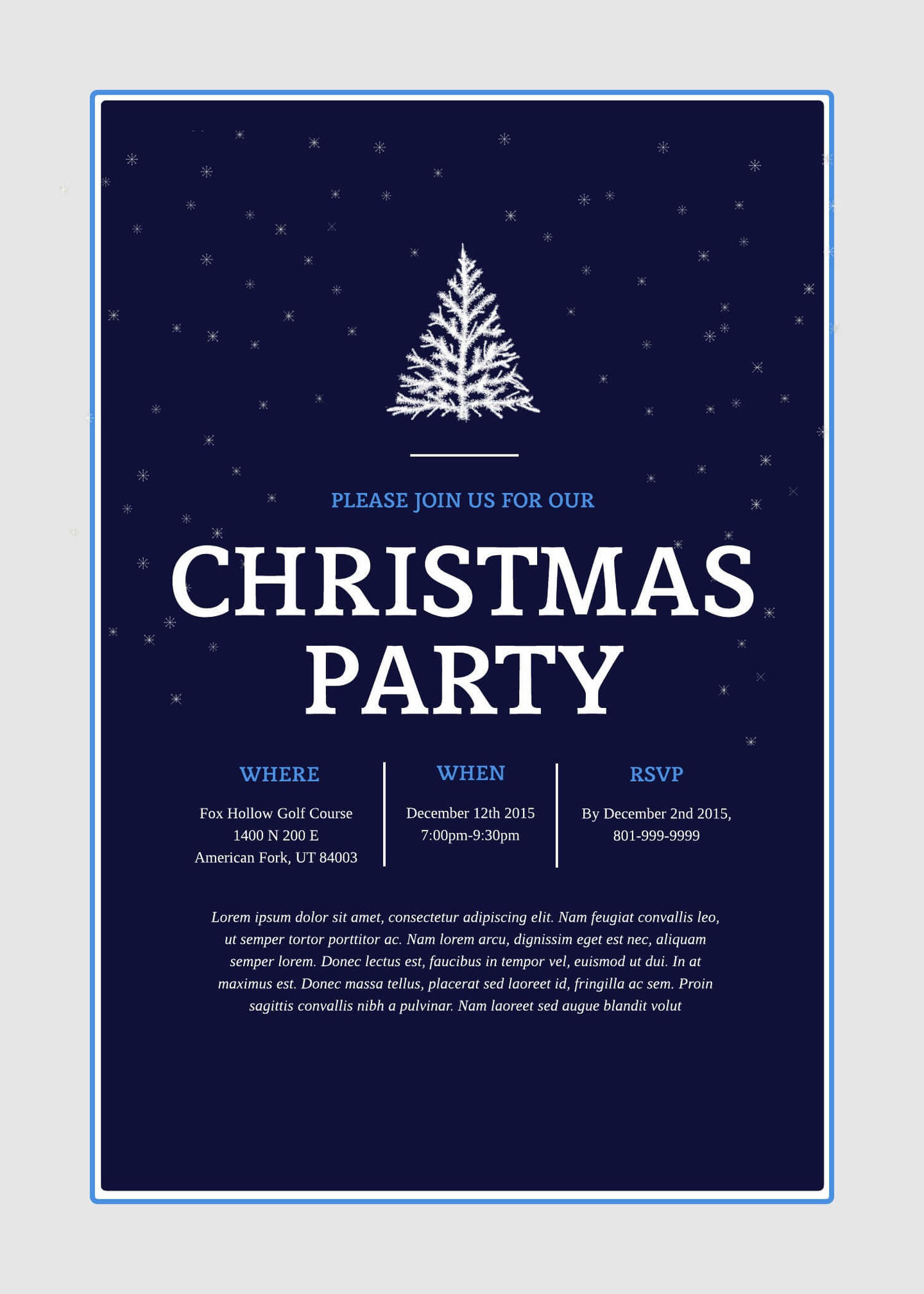 Holiday Party Template Free