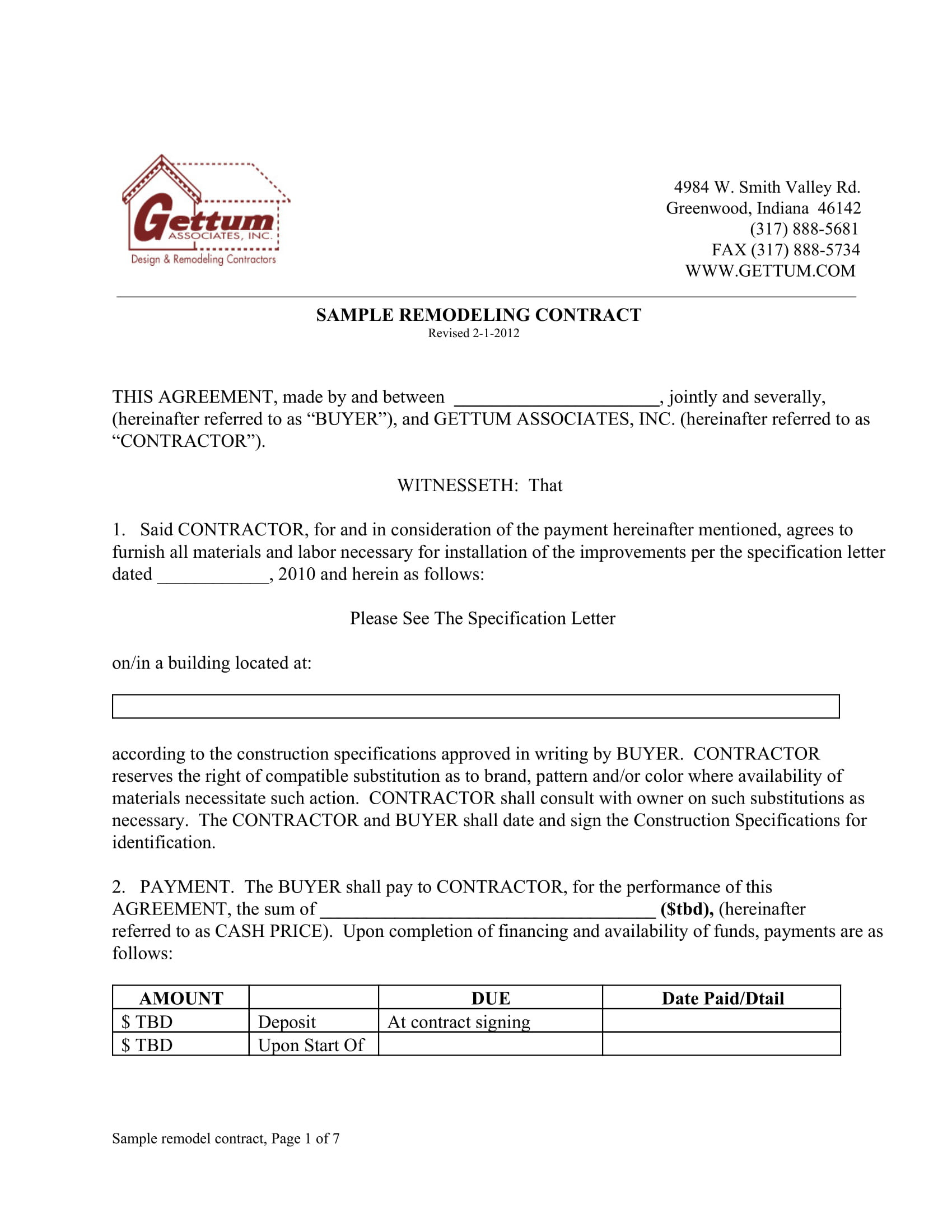 10 Bathroom Renovation Contract Template Examples PDF