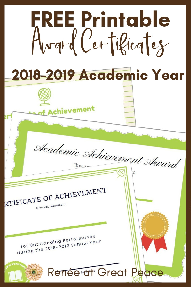 Printable Award Certificates for your Homeschool