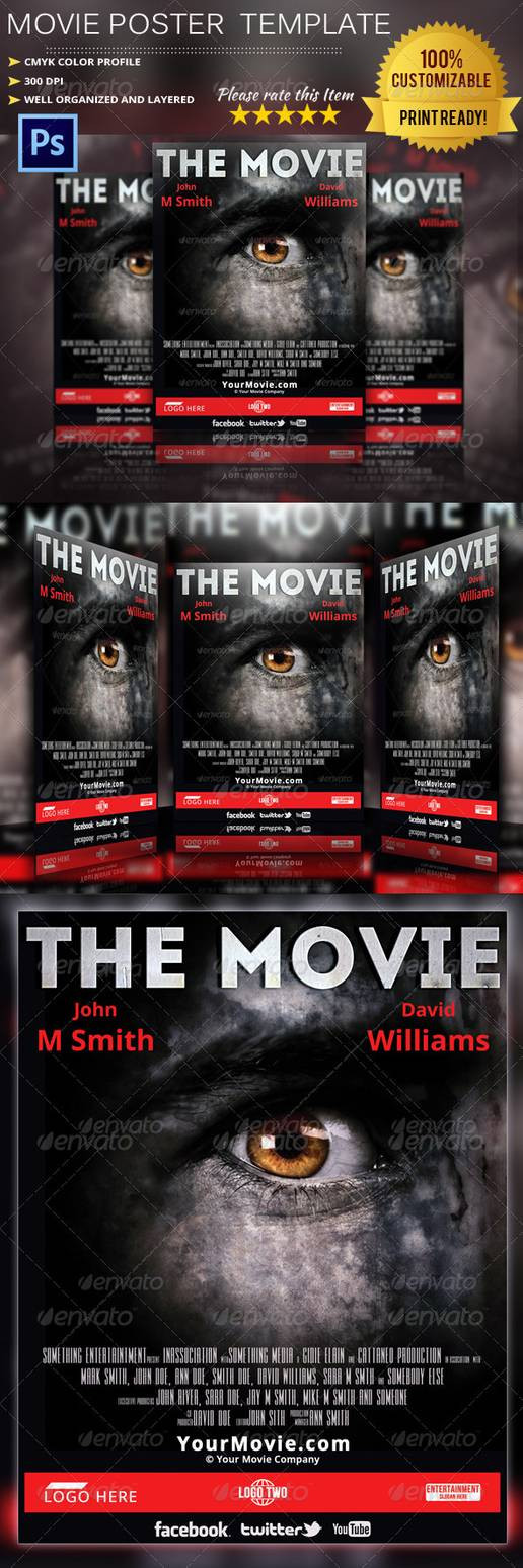 Horror Movie Poster Template